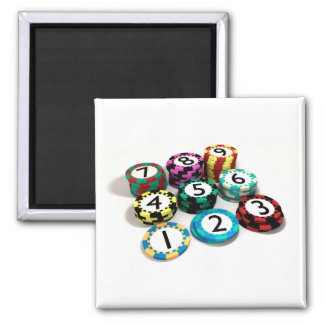 Casino Chip Stacked In Quantity Order Magnet