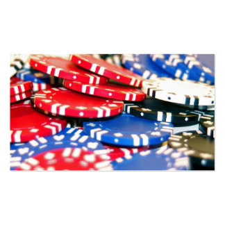 Casino Chips Pack Of Standard Business Cards