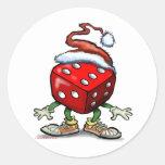 Casino Christmas Round Sticker