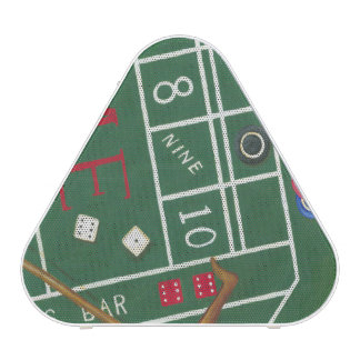 Casino Craps Table with Chips and Dice