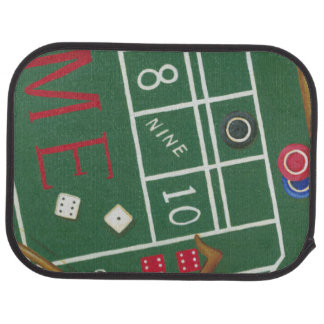 Casino Craps Table with Chips and Dice Car Mat