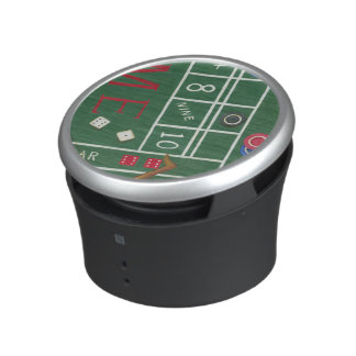 Casino Craps Table with Chips and Dice Speaker