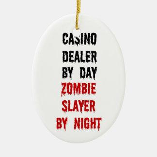Casino Dealer Zombie Slayer Christmas Ornament