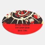 Casino Gambler Address Label Sticker