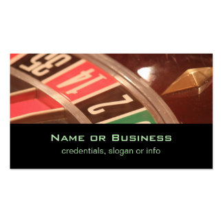 Casino Gambling Roulette Wheel Vintage Retro Style Pack Of Standard Business Cards