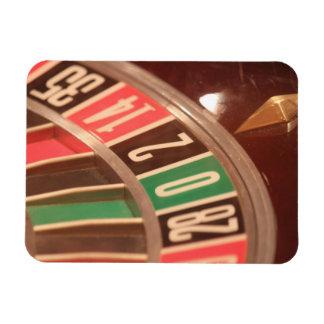 Casino Gambling Roulette Wheel Vintage Retro Style Vinyl Magnet