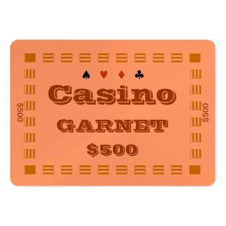 Casino ~GARNET~ Poker Chip Plaque $500 (100ct) Pack Of Chubby Business Cards