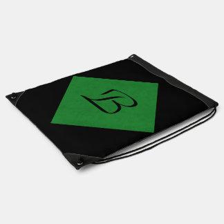 Casino Green Velvet Personalized Home Casino Drawstring Backpack