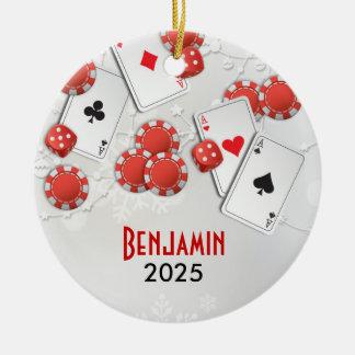 Casino Holiday Christmas Ornament