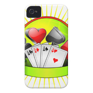 Casino illustration with gambling elements Case-Mate iPhone 4 cases