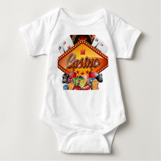 Casino illustration with gambling elements infant creeper