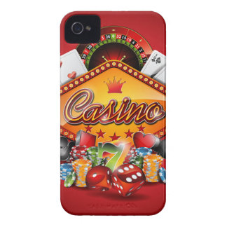 Casino illustration with gambling elements iPhone 4 case