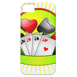 Casino illustration with gambling elements iPhone 5 cases