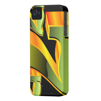 Casino illustration with green sevens. iPhone 4 case