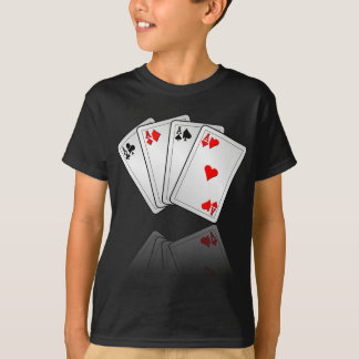 Casino illustration with poker cards aces T-Shirt