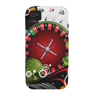 Casino illustration with roulette wheel and dices Case-Mate iPhone 4 cover