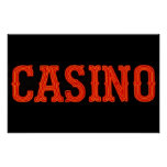 Casino in Neon Red Poster