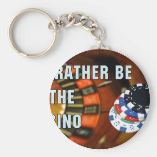 Casino iphone4 basic round button key ring