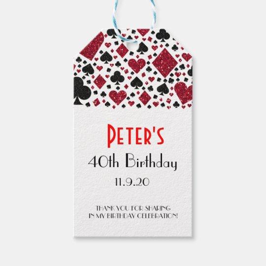 Casino Las Vegas Birthday Favour | Gift Tags
