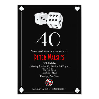Casino Las Vegas Birthday Invitation