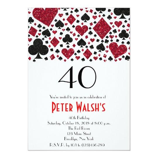 Casino Las Vegas Birthday Invitation