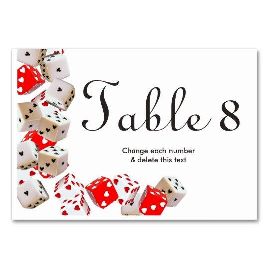 Casino Las Vegas Gambling Wedding Table Numbers