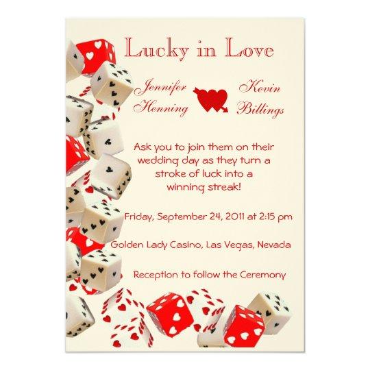 Casino Las Vegas Wedding invitation announcement