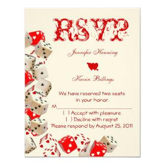 Casino Las Vegas Wedding RSVP 11 Cm X 14 Cm Invitation Card