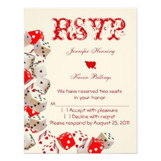 Casino Las Vegas Wedding RSVP Personalized Announcements