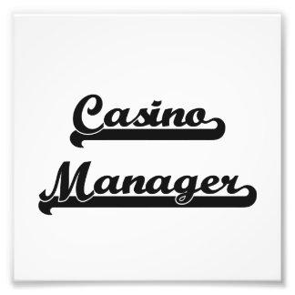 Casino Manager Classic Job Design Photograph