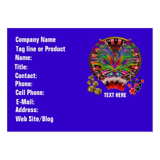 Casino Masquerade Party Business Card Template