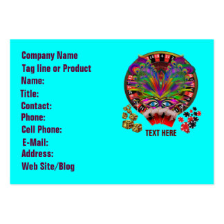 Casino Masquerade Party Large Business Cards (Pack Of 100)