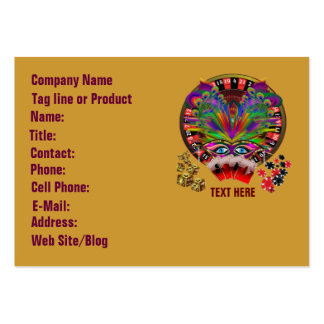 Casino Masquerade Party Pack Of Chubby Business Cards