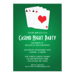 Casino Night Birthday Party 13 Cm X 18 Cm Invitation Card