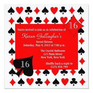 Casino Night Birthday Party Custom Invitation