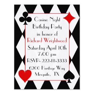 Casino Night Custom Birthday Invitation