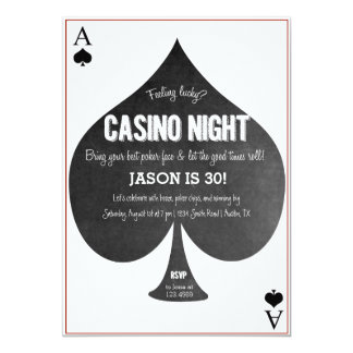 Casino Night Invitation