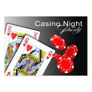 Casino Night Las Vegas Poker Party - red Card
