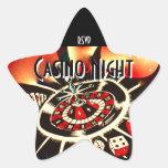 Casino Night Party star rsvp Star Sticker