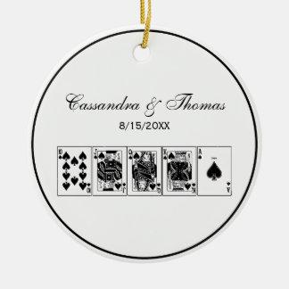 Casino Night Poker Royal Straight Flush Spades Christmas Ornament
