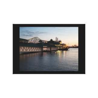 Casino on the Mississippi River Canvas Print