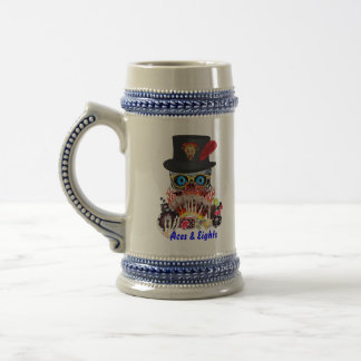 Casino Party Any Event Aces and Eights View Notes Beer Stein