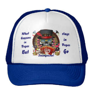 Casino Party Vegas So Go Incognito View Notes Mesh Hat