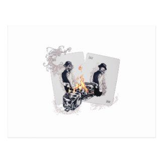 Casino Play Fire Dice Postcard
