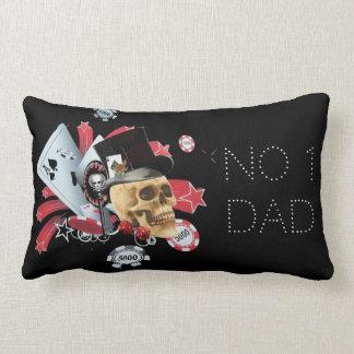 Casino player no1 dad fathers day lumbar pillow