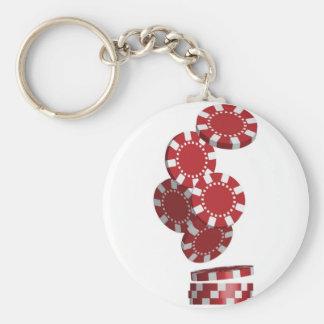 Casino / Poker Chips Basic Round Button Key Ring