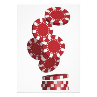 Casino Poker Chips Personalized Announcement
