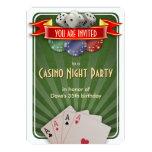 Casino Poker Night Birthday Party Personalised Invites