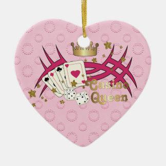 Casino Queen Christmas Ornament