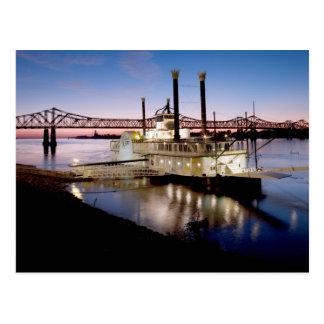 Casino Riverboat at Dusk Postcard